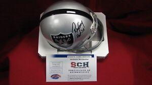 Ray-Guy-Signed-Autograph-Oakland-Raiders-T-B-Mini-Helmet-W-HOF-14-SCH-Auth