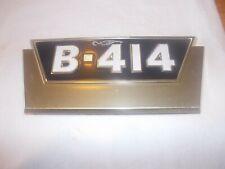 Farmall Ihc B414 Ih Tractor Original N Os Front Hood Side Panel Gold Emblem Rare