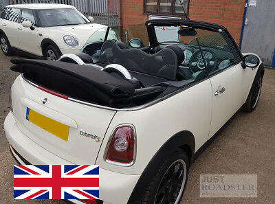 Just Roadster Wind Deflector to fit BMW Mini Convertible R52 /& R57 2005-2015 Mesh Black