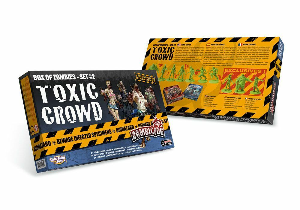 Asmodee Zombicide Toxic Crowd Set Guillotine Games Cool Mini or not Zombies