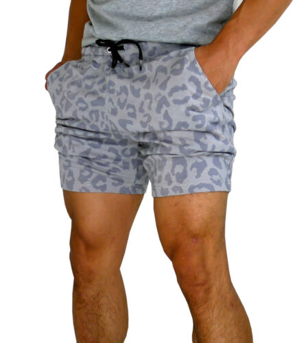 NEW MENS GYM SHORTS TERRY COTTON SLIM TAPERED LEG BODYBUILDING ATHLETICS SPORT
