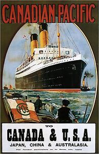 Canadian-Pacific-Vintage-Illustrated-Travel-Poster-Print-framed-canvas