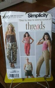 Oop-Threads-Simplicity-3880-misses-cargo-shorts-capris-pants-sz-10-18-NEW