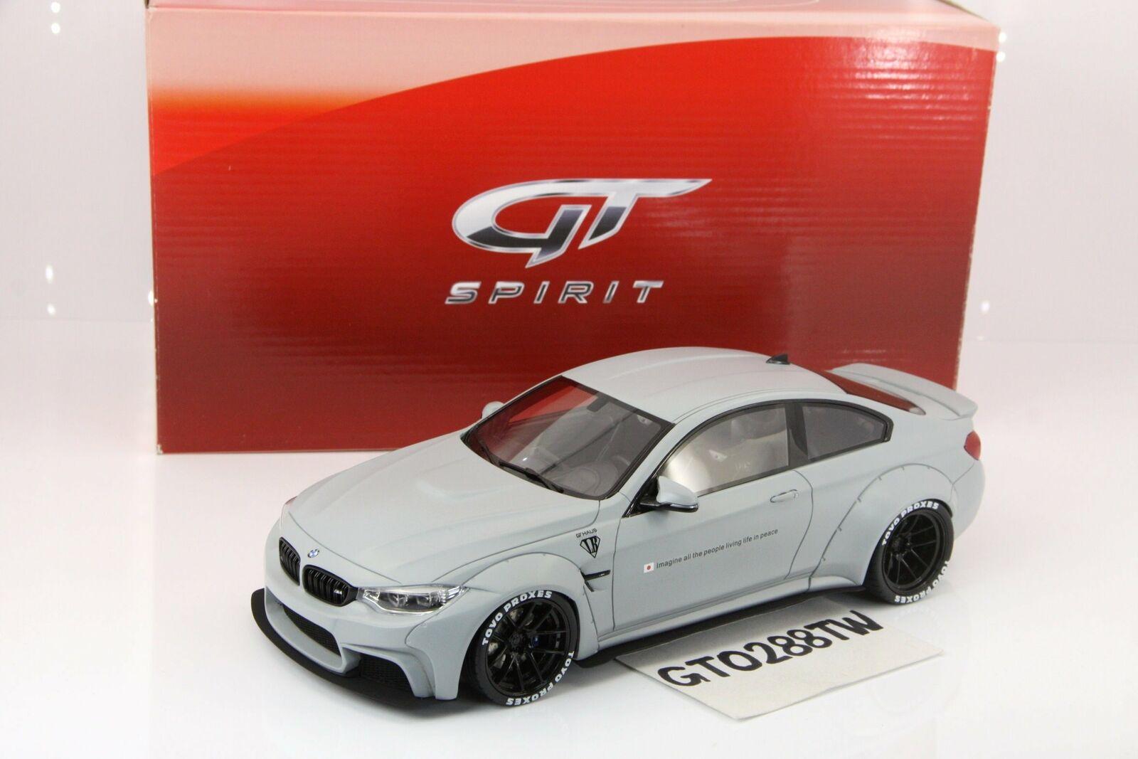 i nuovi marchi outlet online GT Spirit 1 18 scale BMW M4 LB LB LB Perforuomoce Liberty Walk - Matt grigio(GT099)  contatore genuino