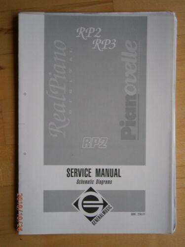 RP3 Schaltbild original NEU GEM Generalmusic E-Piano  RP2