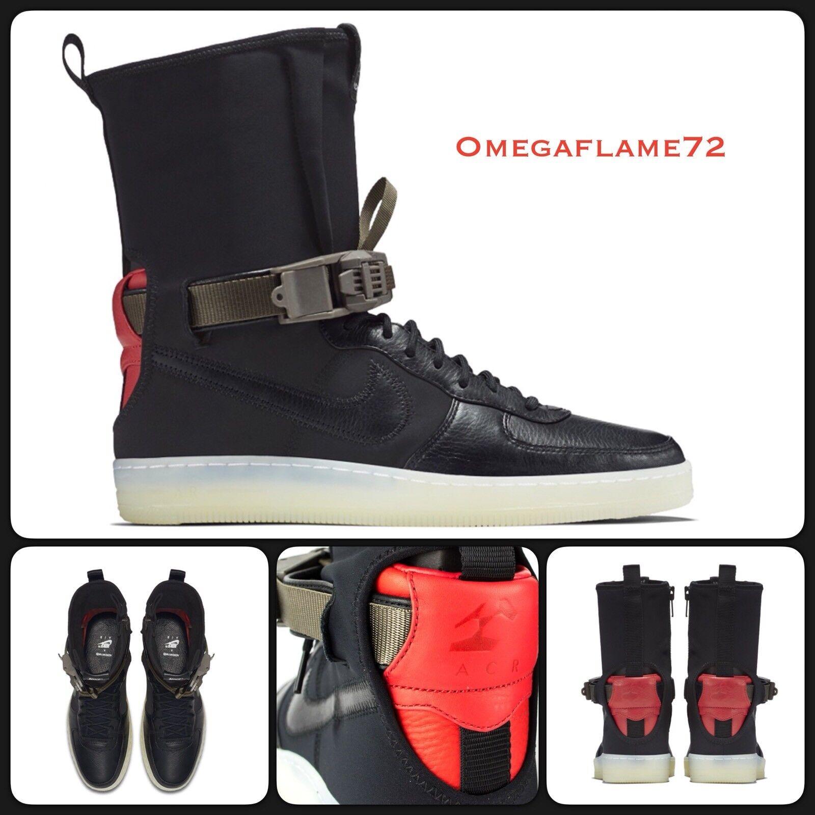 Nike Acronym AF1 EU Downtown Hi SP 649941-006,8.5 EU AF1 43 US 9.5 Noir  Crimson ef08da