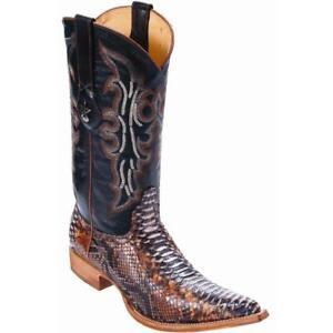 93c996b2c72 Details about Men's Los Altos Genuine Python Snakeskin 3x Toe Boots Handmade