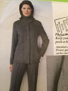 Vogue-Sewing-Pattern-2190-Misses-Pants-Jacket-Size-14-18-Donna-Karan-Uncut