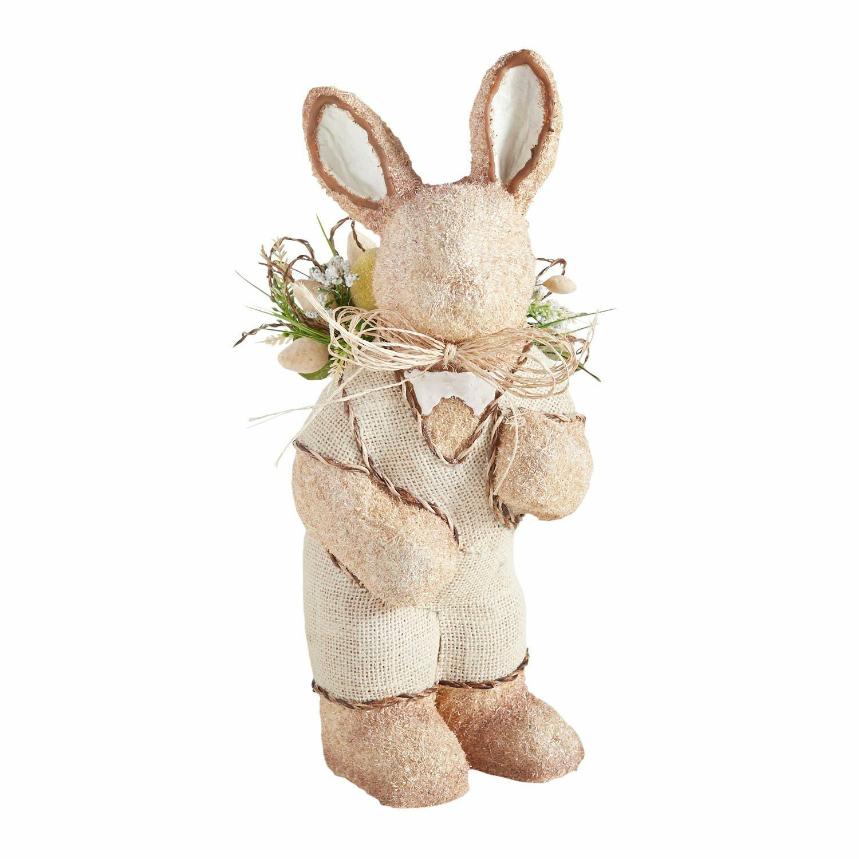 Nuevo con etiquetas Pier 1 Imports Natural Orgánico Granja Easter Bunny Conejo Grande 16.5 Hx6 W
