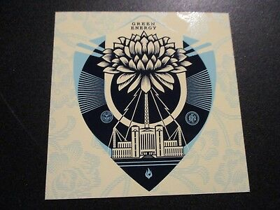 """SHEPARD FAIREY Obey Giant EARTH CRISIS Lifeguard Sticker 4X4/"""" art from poster"""