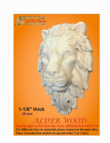 Wood carved decor with Lion Head