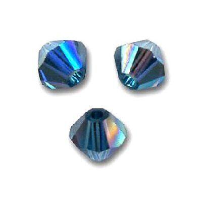 15 Perles Toupies 4mm en cristal Swarovski  LIGHT PEACH AB2X