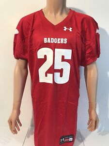 size 40 d4052 725a4 Details about NEW Wisconsin Badgers Under Armour Football Authentic Jersey  Men's Large NCAA