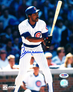 ANDRE DAWSON SIGNED AUTOGRAPHED 8x10 PHOTO CHICAGO CUBS HERO LEGEND PSA/DNA