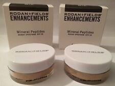 2 Rodan and Fields Enhancements Mineral Peptides Powder SPF 20 MEDIUM New In Box