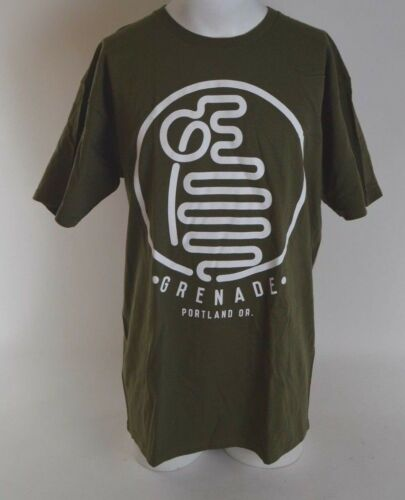 2016 NWOT GRENADE ARGON T-SHIRT $22 L army cotton screen printed soft gloves