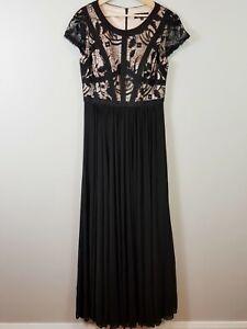 JADORE-Womens-Cocktail-Party-Long-Black-Gown-Dress-Size-AU-14-or-US-10