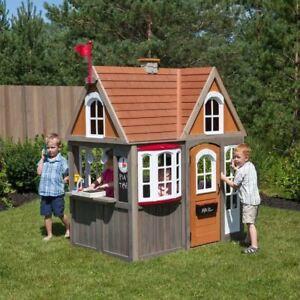 eBay & Details about Kids Playhouse Outdoor Garden Cedar Summit Greystone Wendy Cottage 2-10 Years