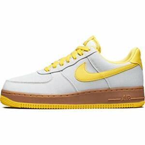 Details about Nike Air Force 1 '07 TXT SZ 9.5 Canvas Light Bone Tour Yellow AJ7282 002