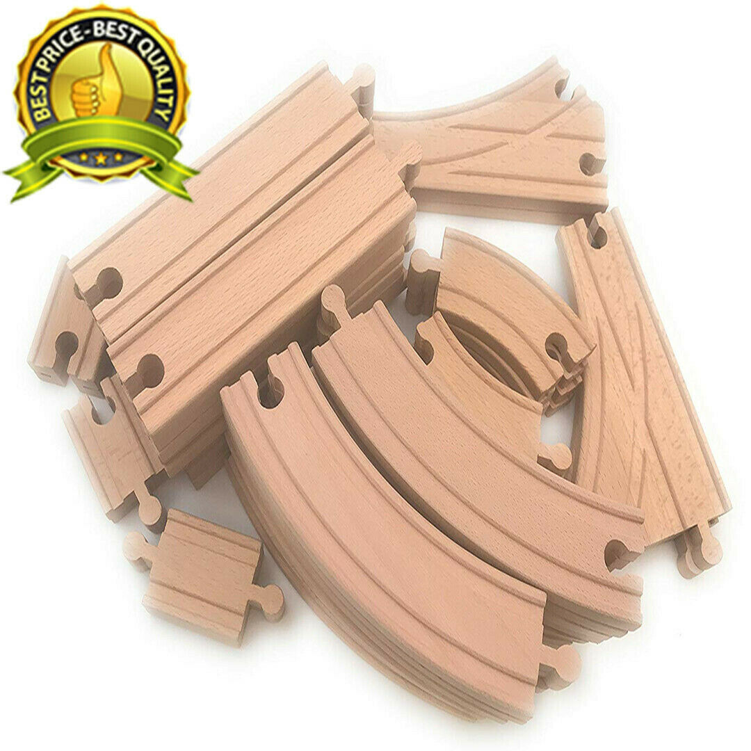 Wooden Train Track 64 PCS Lot Set Wood Bridge Railroad Thomas Brio Accessories