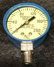 Vintage Ashcroft Usa 1850perfecting Service 0 200 Psi Pressure Gauge