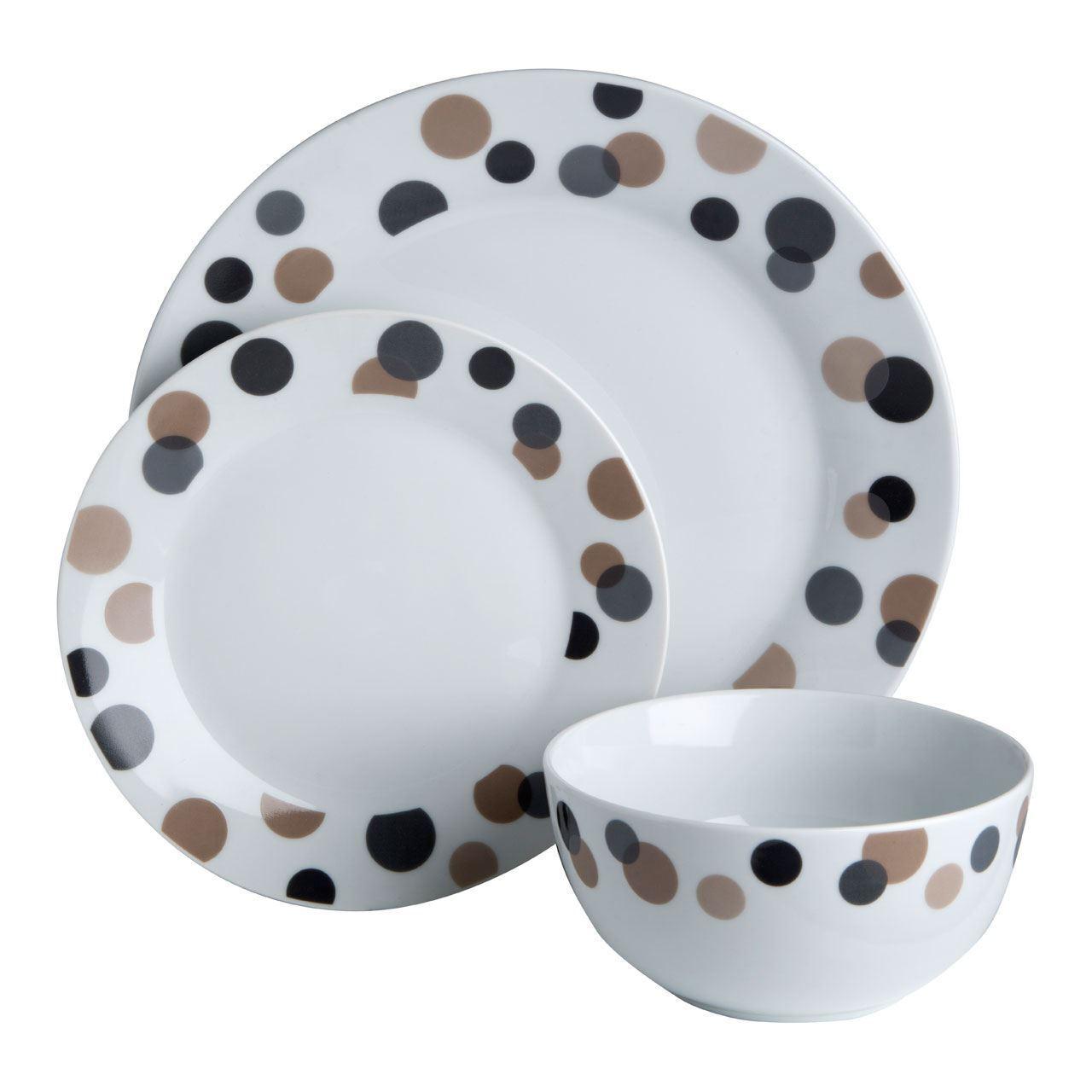 Premier Housewares 12pc Luna Dinner Set, Porcelain