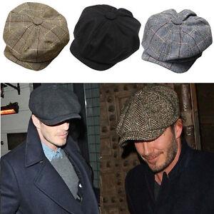 Mens-Warm-Peaked-Cap-Cabbie-Newsboy-Gatsby-Flat-Ivy-Golf-Baker-Beret-Flat-Hat