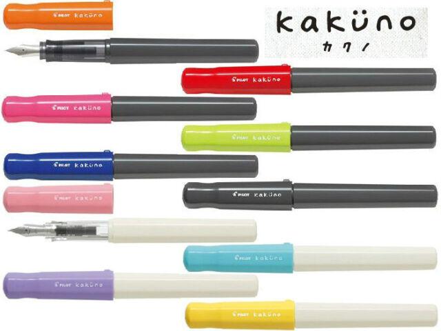 New PILOT Fountain pen kakuno Fine 10 Colors Japan