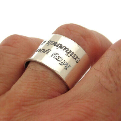 Custom Text Personalized Ring Size 4-13 8mm Width TIONEER Sterling Silver Plain Dome Wedding Band for Men and Women Made In USA 3mm