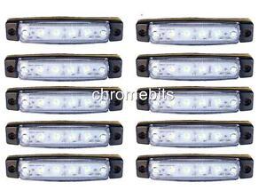 10 X 24V Led Blanc Clignotant Mercedes Actros ATEGO 815 Axor Neuf