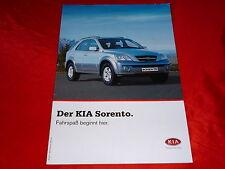 KIA Sorento 2.4 16V 2.5 CRDi 3.5 V6 Prospekt + Preisliste von April 2003