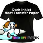 IRON ON HEAT TRANSFER PAPER / DARK COLORS BL 25 SHEETS :)