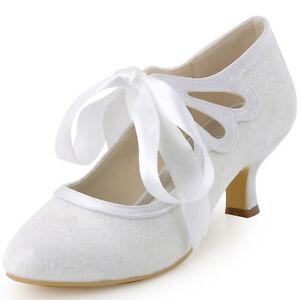 White Satin Ballet Shoes With Ribbon