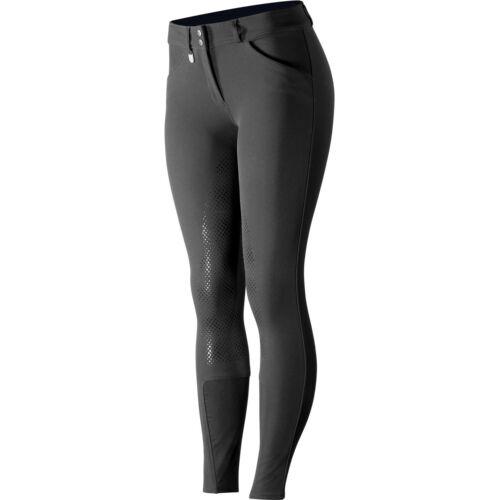 Horze Grand Prix Silicone Grip Full Seat Womens Pants Riding Breeches Black