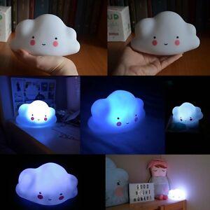 Portable-Veilleuse-Enfants-Kid-Toy-Chambre-Nouveau-ne-Pile-Lampe-Cloud-Forme
