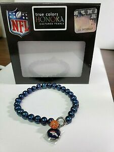 Honora-Cultured-Pearl-7-0mm-various-NFL-Teams-Stretch-Charm-Bracelet-50