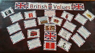 Acrostic BRITISH VALUES POSTER laminated nursery childminder school OFSTED