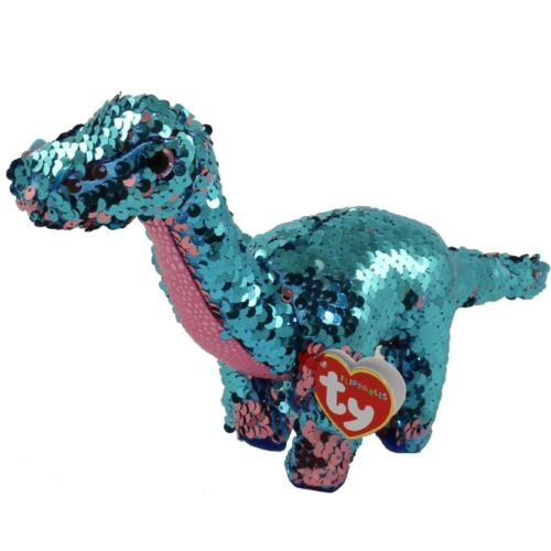 "Ty Beanie Boos 6/"" Reg Flippables TREMOR Dinosaur Reversible Sequins Plush MWMTs"