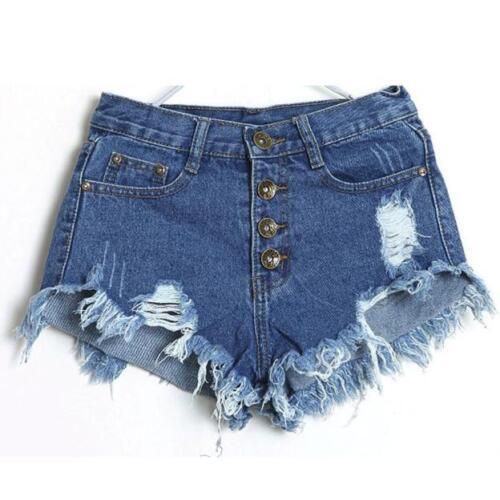 Women Casual High Waist Jeans Hole Short Jeans Hot Pants Denim Summer Shorts New