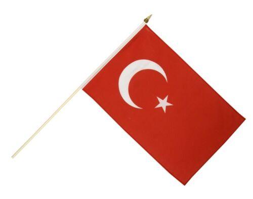 Türkei Stockflagge Flaggen Fahnen Stockfahne 30x45cm
