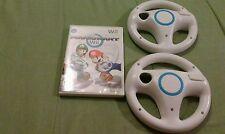 Mario Kart Wii (Nintendo Wii, 2008) with 2 Steering Wheels