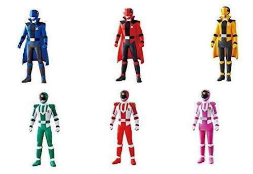 Japan Power Rangers Lupinranger VS PatOranger Sentai Hero Series PVC Set of 6