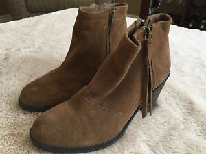 14c63b6e43bd6 Details about Crown Vintage Women's Brown Suede Leather Ankle Boot 3