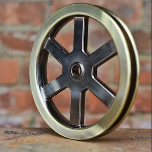 """Pulley Wheel - 5"""" Antique Brass - Metal Pulley - Barn Door ..."""