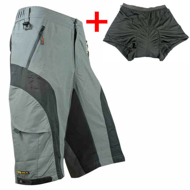 New Loose Fit Cycling Bicycle Bike MTB Shorts 3D Padded S-XXXXL Leisure Pants