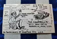 "HAM CB RADIO QSL Trading Card ""RAMBLIN MAN & COUNTRY MAMA - MAGNOLIA ARKANSAS"""