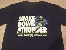 NOTRE DAME FIGHTING IRISH 2012 FOOTBALL-125 YEARS-SHAKE DOWN THUNDER T-SHIRT-MED