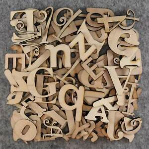 image is loading over 75 small wooden letters craft shape 3mm