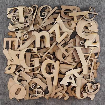 Más de 75 Pequeñas Letras De Madera Artesanales Forma 3 mm de madera contrachapada 2-5cm tamaño mezclado Fuentes