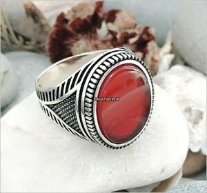 Details about  /Handmade 925 Sterling Silver Natural Agate /& Marcasite Men/'s Woman/'s Ring #B82